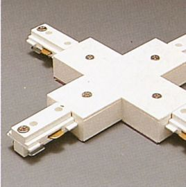 TR133 WH Track One-Circuit Accessories 1-circuit X connector, White