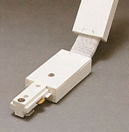 TR134 WH Track One-Circuit Accessories 1-circuit Flexible connector, White