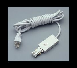 TR135 WH Track One-Circuit Accessories 12' grounded cord & plug, White