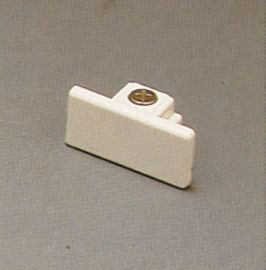 TR138 WH Track One-Circuit Accessories Dead end cap, White