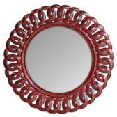 05029 Sassia Red Round Mirror