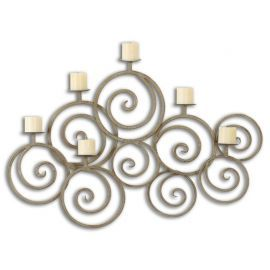 07686 Fabricia Metal Candle Sconce