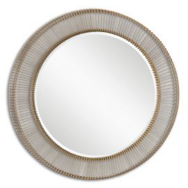 08125 Bricius Round Metal Mirror