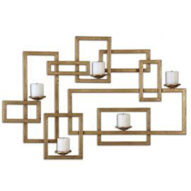 12871 Brighton Gold Wall Sconce