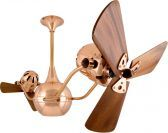 Vent Bettina-Polished Copper-Wood Ceiling Fan