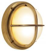 Outdoor Wall Bari Guard Brass Medium Base Incandescent 75W