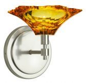 Wall Sconce Peak Crystal Amber Polished Nickel LED G4 JC 1x2W