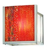 Wall Sconce Avenue Open 6x6 Red Satin Nickel LED G6.35 6W