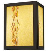 Wall Sconce Avenue Complete Amber Bronze LED G6.35 6W