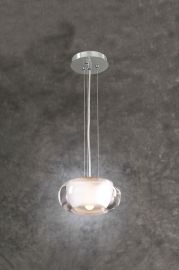 256 SN Clear With Inside Frost Castille Mini Drop Pendant
