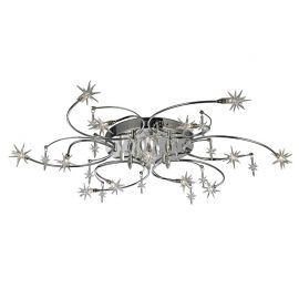 European Contemporary 13-Light Ceiling Chandelier, 13 Stars